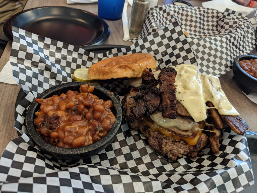 Burger and smoked beans are better than peas and carrots